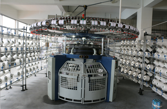 Four Tracks Technical Fabric Knitting Machine 3F 3.2F 4F Wide Needle Butt Design