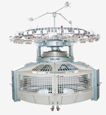 China High Efficiency Open Width Circular Knitting Machine Equipped With Roller - Shifting Device factory