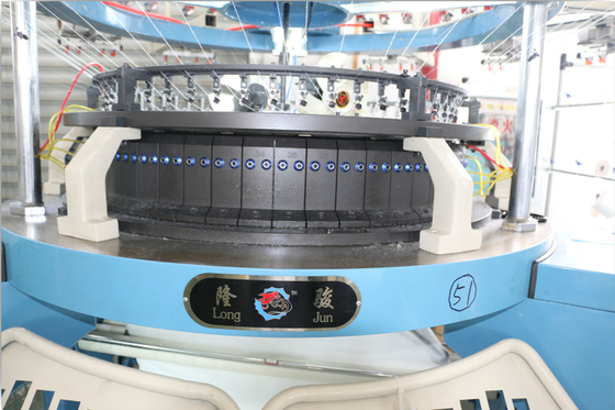 China RPM30 Single Jersey Circular Knitting Machine Easy Adjust Different Density Fabric distributor