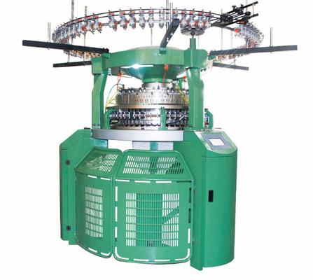 China Green Color Rib Circular Knitting Machine Computerized Electronic Transfer factory